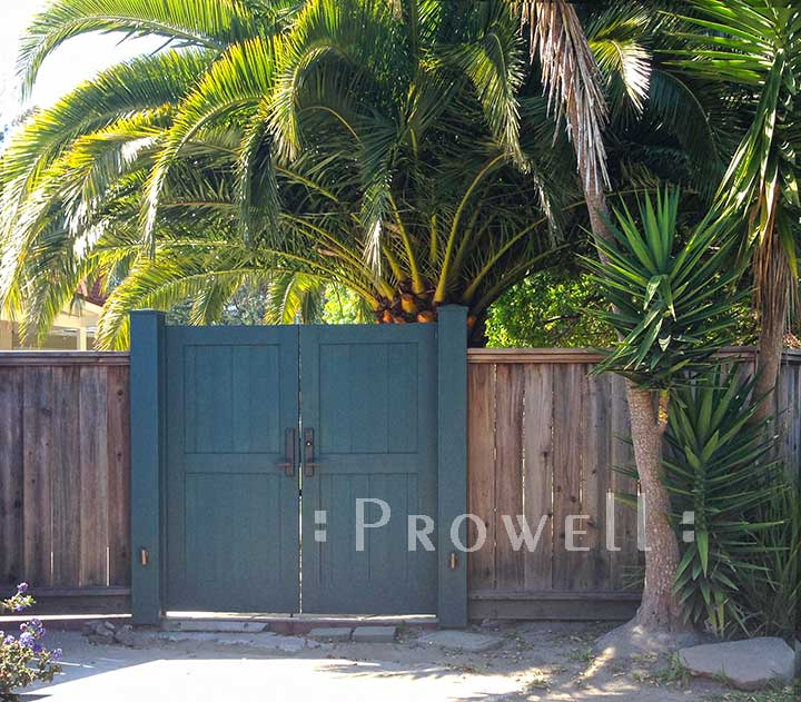 Double Wood Garden Gates in Bolinas, CA