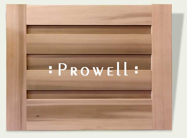 horizontal wood garden gate 30-6. prowell