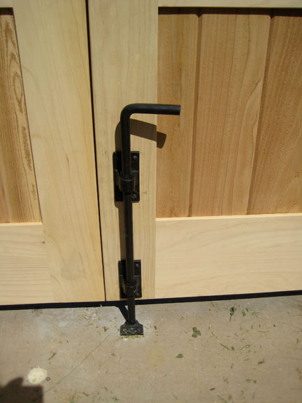 image showing Bronze Cane Bolts for double wood gates