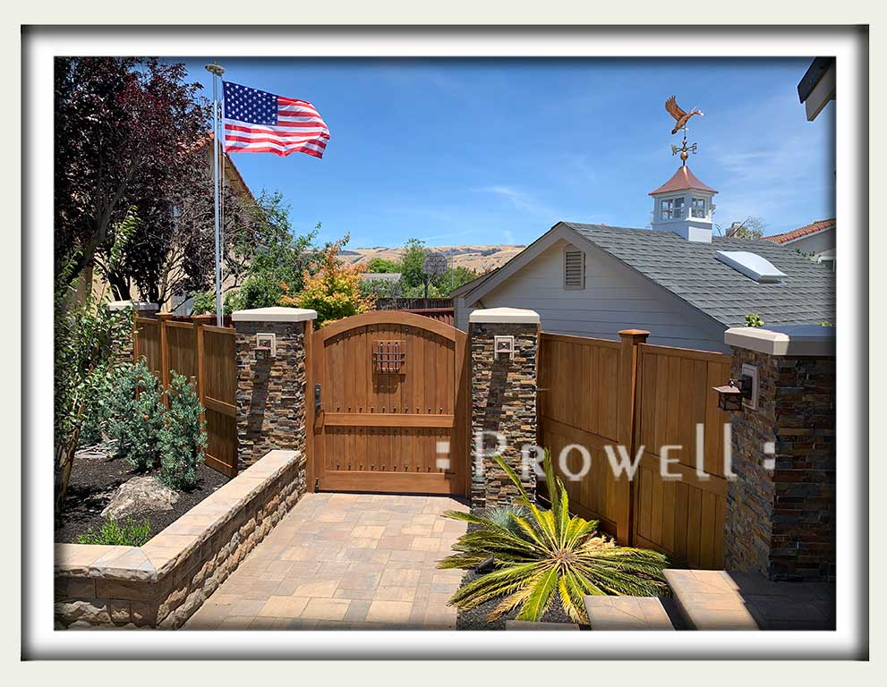 site photo showing wooden gates 31-10 in san francisco bay area #31-10 in Marin county, CA