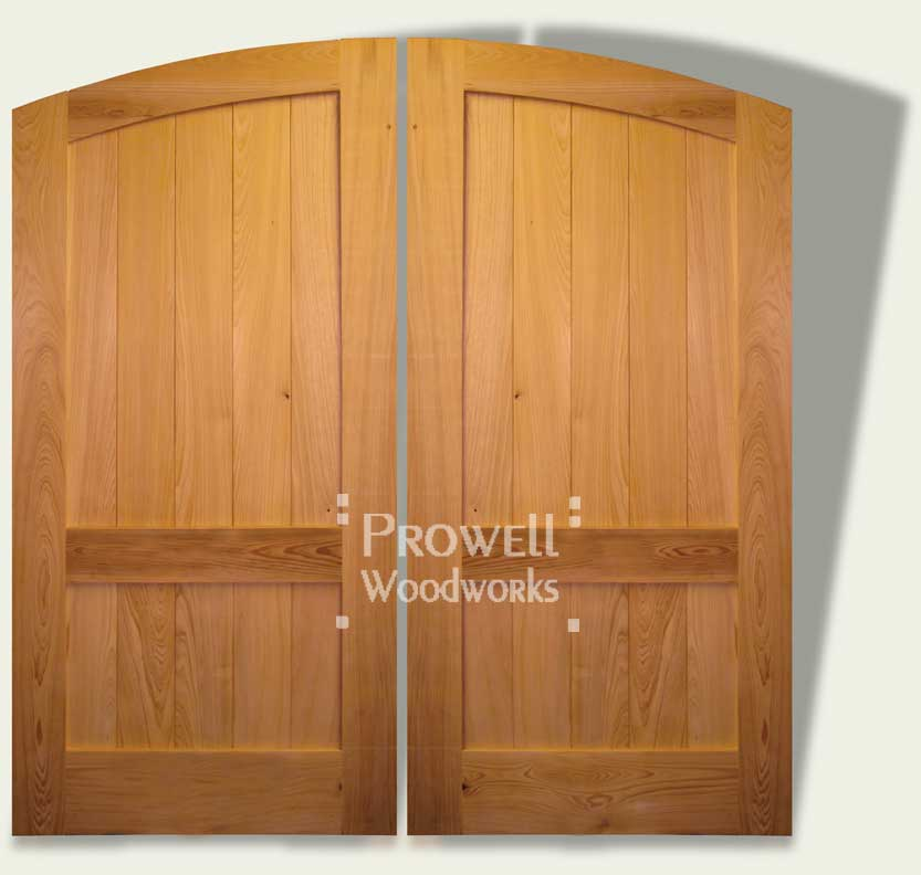cropped image of double wooden gates #30.