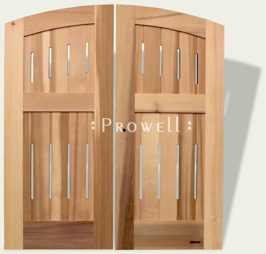 cropped image showing wood fence gate 31-9