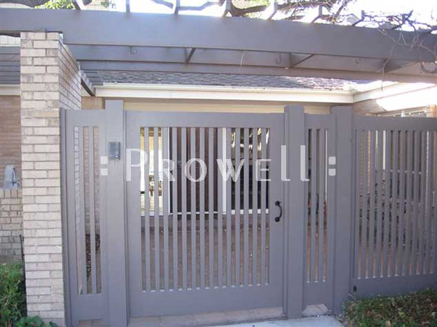 Site photo showing picket fence gate #32-1 in Dallas, Texas