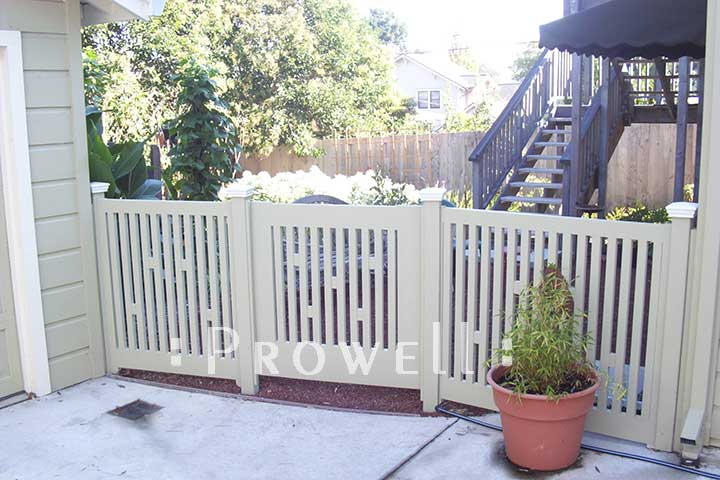site photo showing picket gate #32-3 in Sonoma County, California