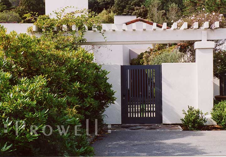 open picket wood gate by Prowell