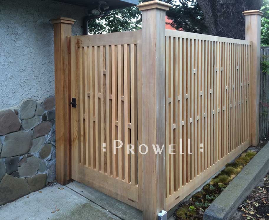 site photograph showing th side entrance with fence gate #32-6 in Marin County, California