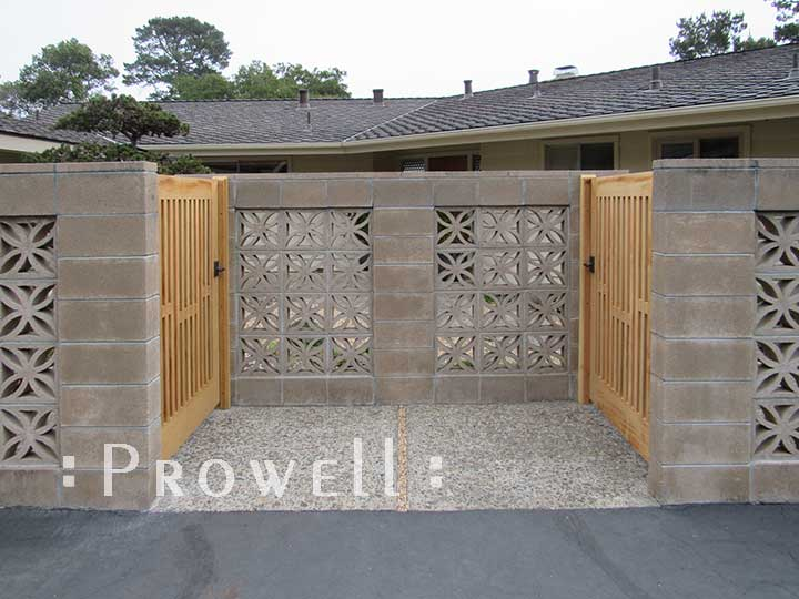 site photo showing two wood picket gates 32-7 in Monterey, ca