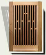 Open Grid Wood Garden Gate #32