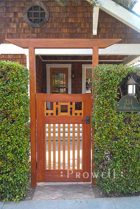 Arts and Crafts Wood Gates in Santa Barbara