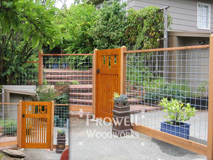 site photograph of wood fence gate #38-4 in San Anselmo, california.