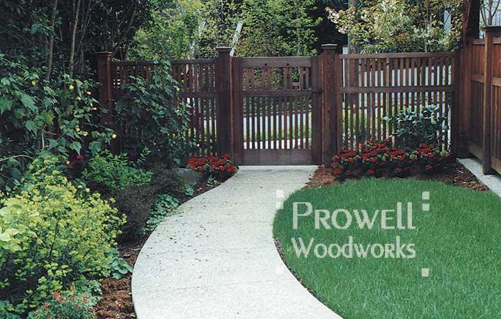 site photo showing craftsman garden gate #38 in marin county, california