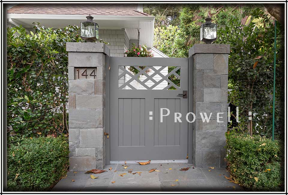 Site image showing traditional wood gate #39-3 in Belvedere, California. prowell