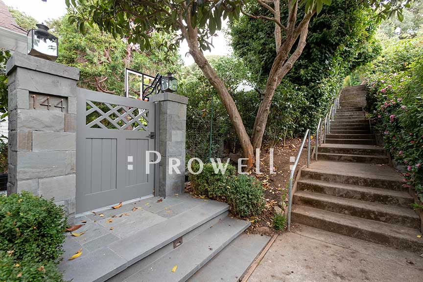 site photograph of public walkways with traditional gate design #39-3 in Belvedere, California