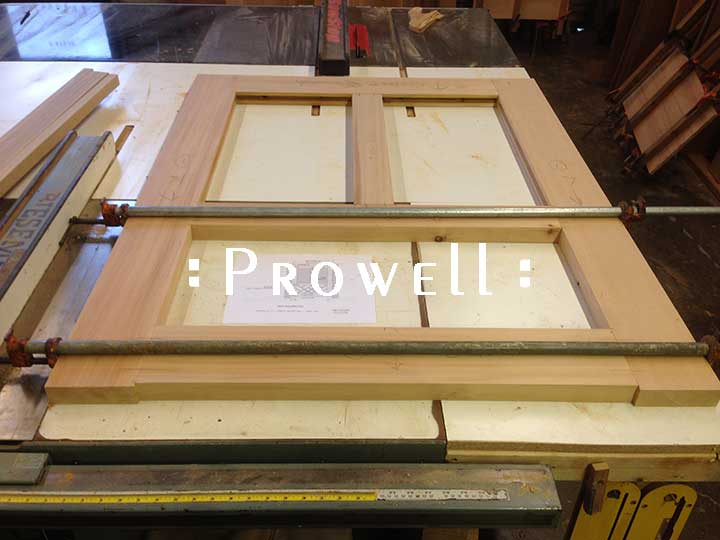 shop photo showing Prowell building a traditional gate design #39.