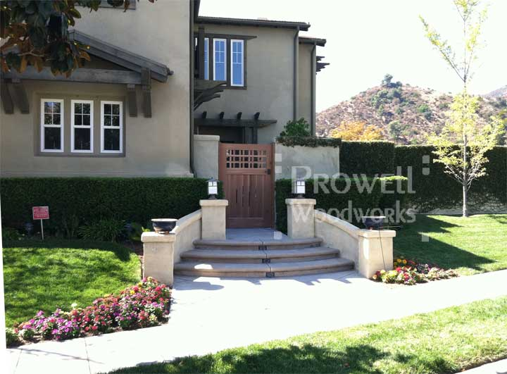 site photo of wooden fences and gates #3-2 in Pasadena, california