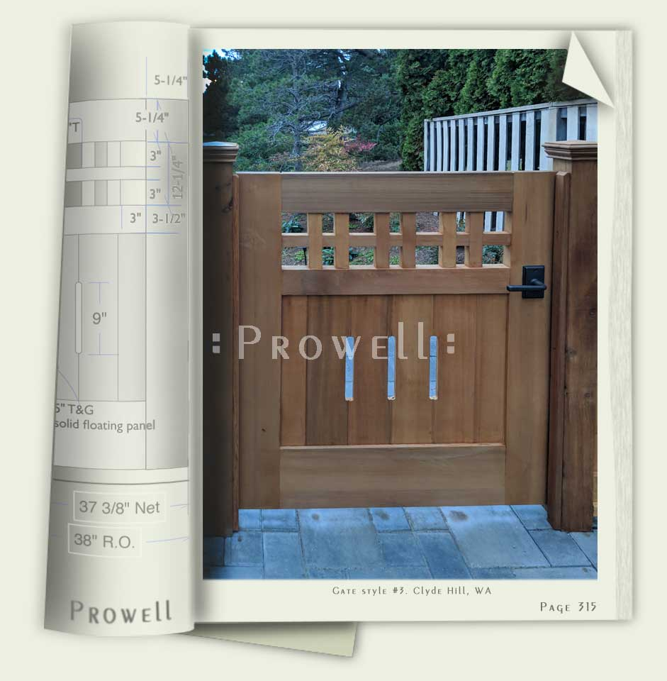 photograph of site with wooden fences and gates #3-4 in Washington