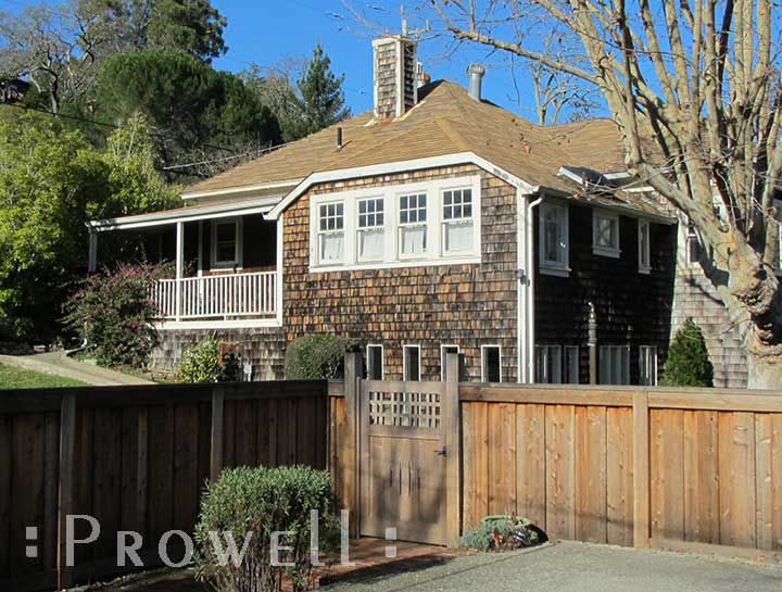 site photo showing craftsman wooden fences #3 in california