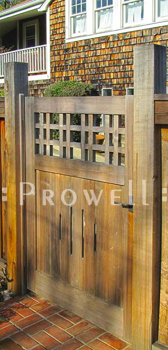 Site photo showing wooden gate #3 in marin county, california