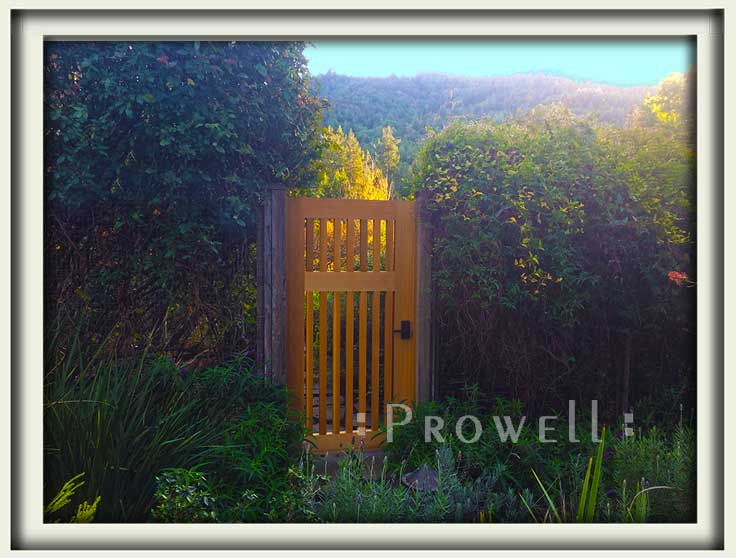 site photo showing gate design #40-4 in Marin County. prowell