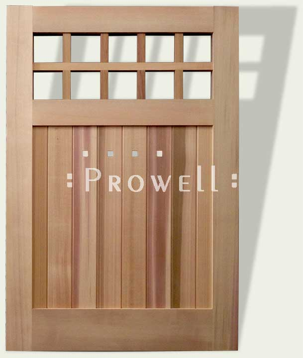 cropped photo showing craftsman wood gate #4-10. prowell
