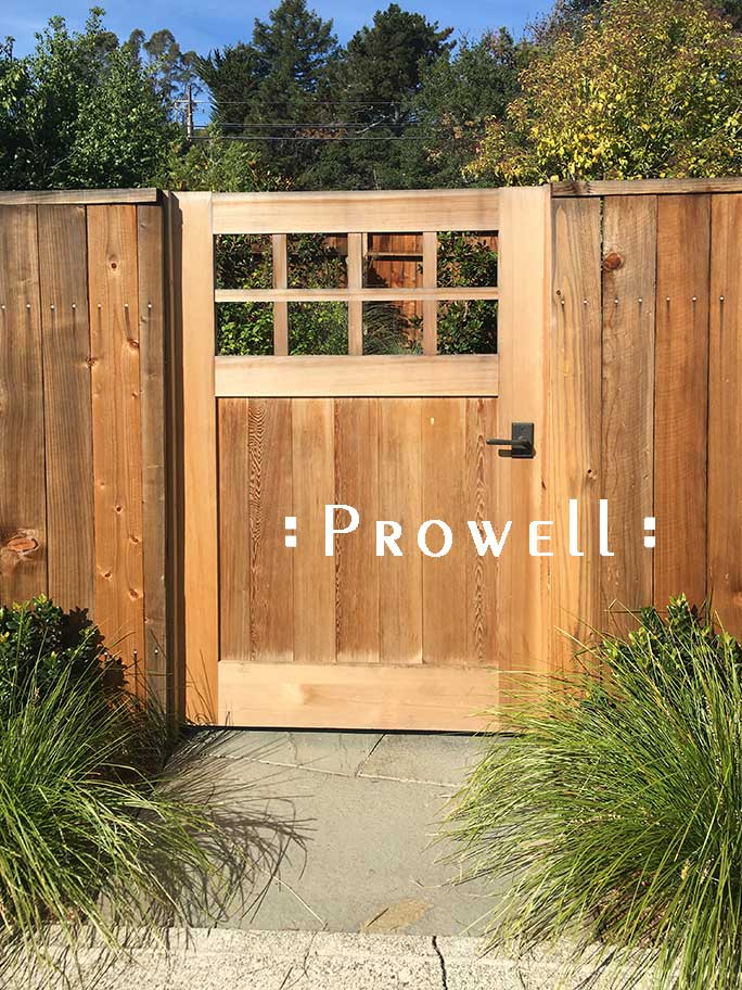 site photo showing craftsman wood gate #4. Prowell