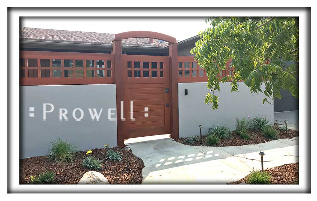 site photograph showing gate designs #4-18 in Silicone valley, CA