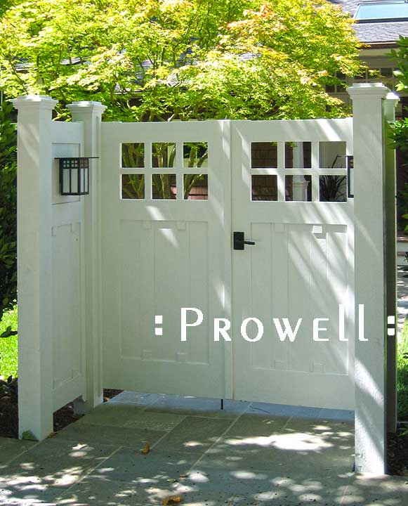 another site photograph showing gate designs #4-1 in Marin county, CA