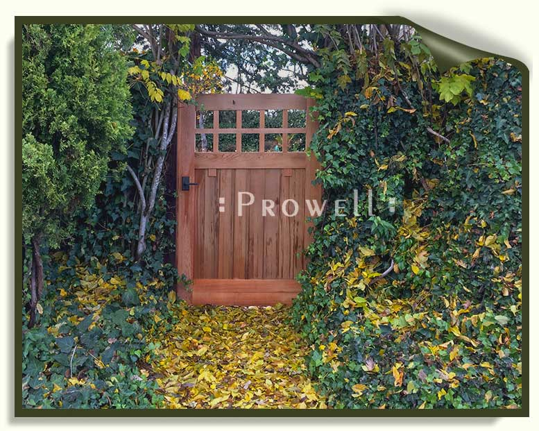 Site photograph showing the Craftsman wood gate #4 in Kenwood, CA