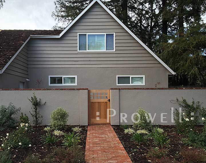 Another site photos showing garden gate #4 in Sonoma County, ca