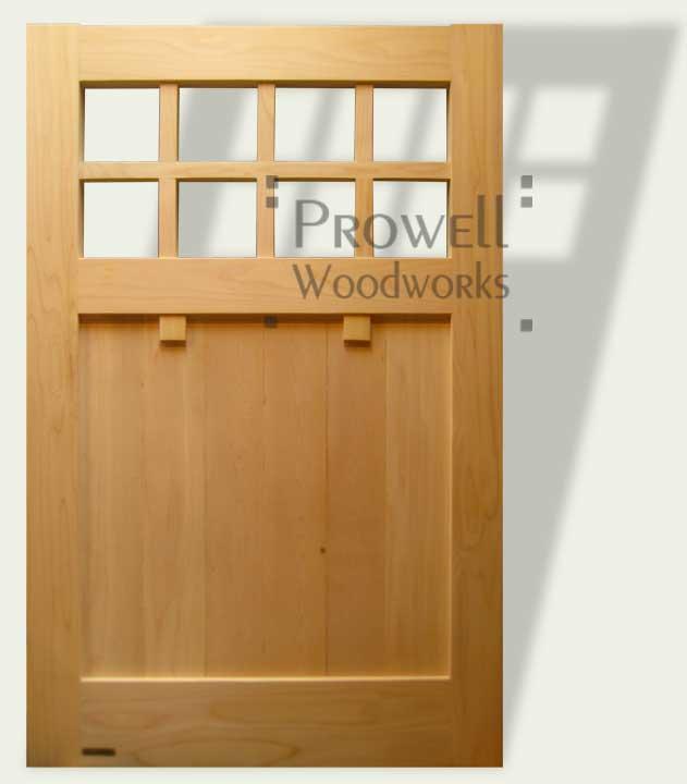 cropped image showing custom wood Craftsman garden gate #4