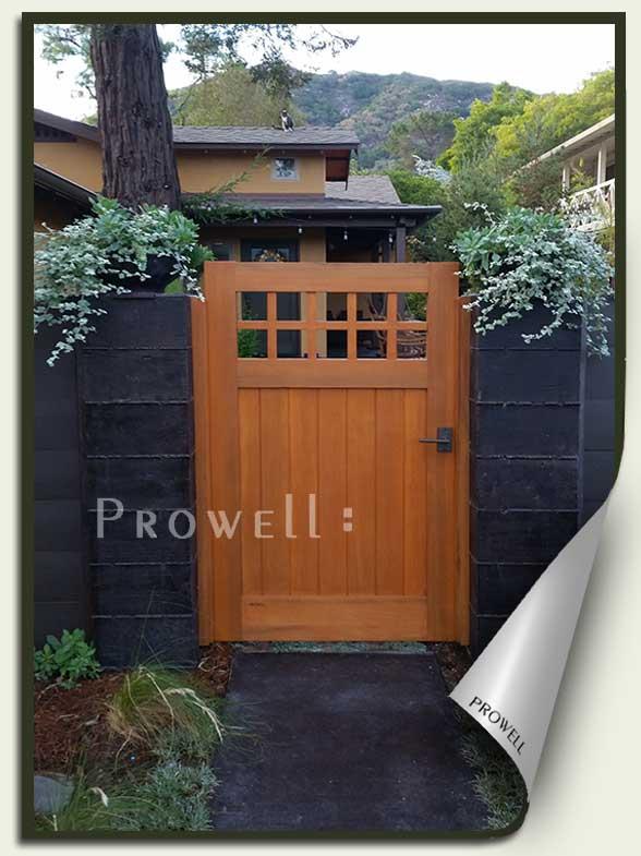 site photograph showing gate designs 4-4 in San Luis Obispo, ca