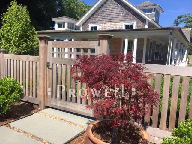 site photo showing gate designs #4-9 in Martha's Vineyard