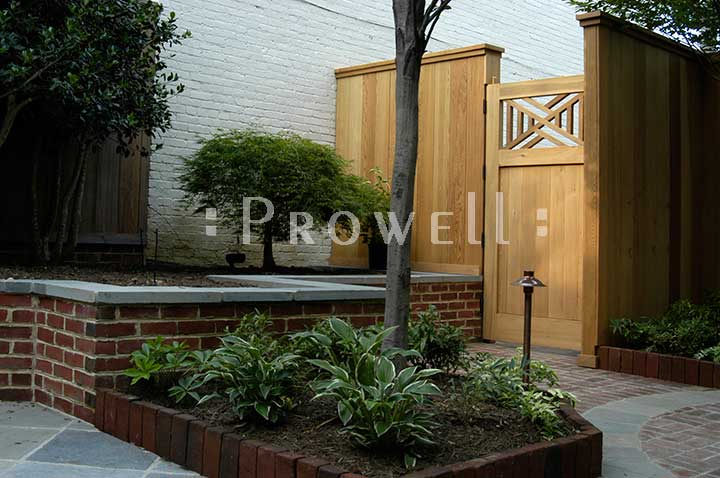 Another site photograph of wood garden gate #51 in Washington DC