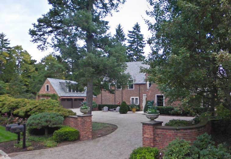 site photo of the residence in Birmingham, Michigan with gate #51.