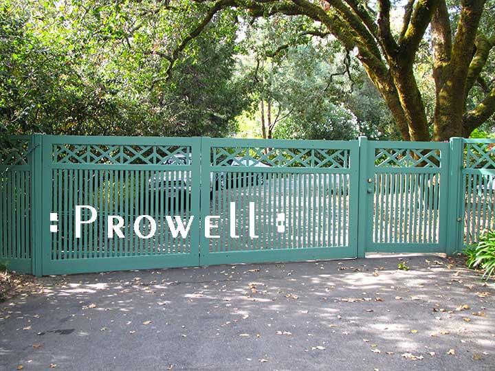 Colonial wood garden gates #51-5 in Marin County, california