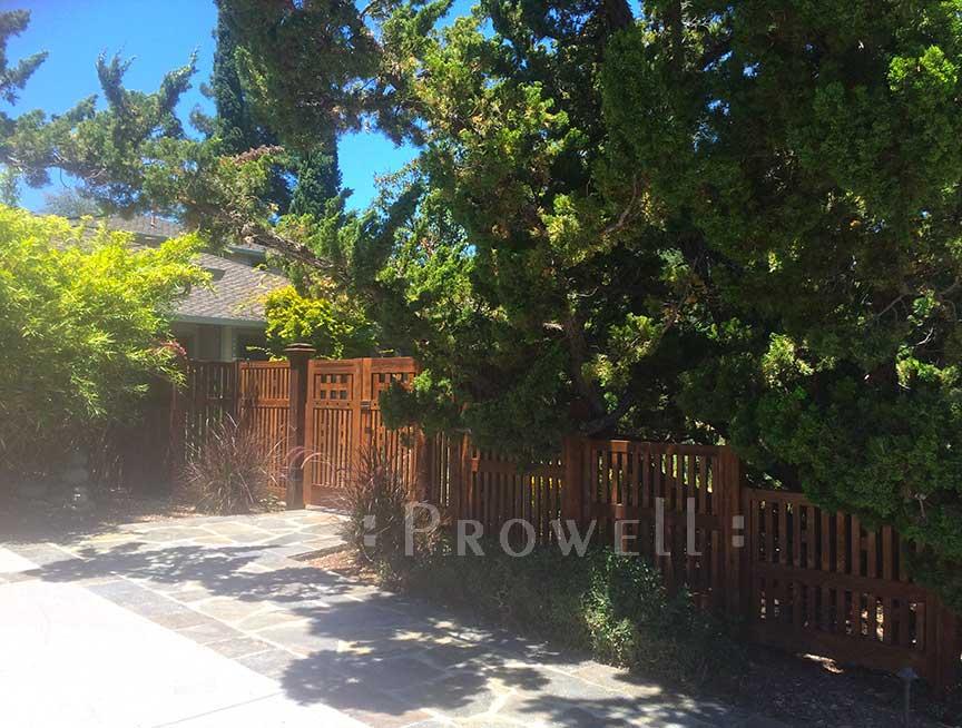 Site photograph showing the double gate design #52-4 in los altos, california