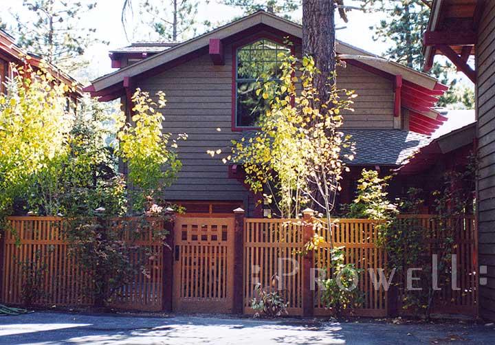 site photo of gate design #52-5 in Lake Tahoe