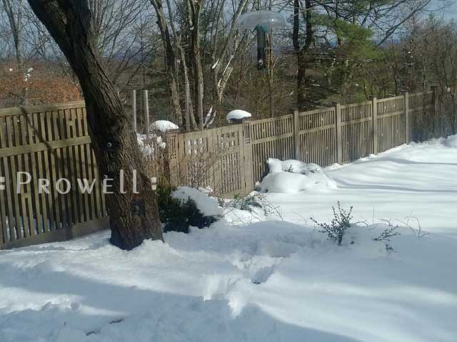 more winter snow photographs of gate design #52-6 in upstate new York