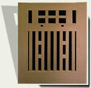 Open Grid Wood Garden Gate #52