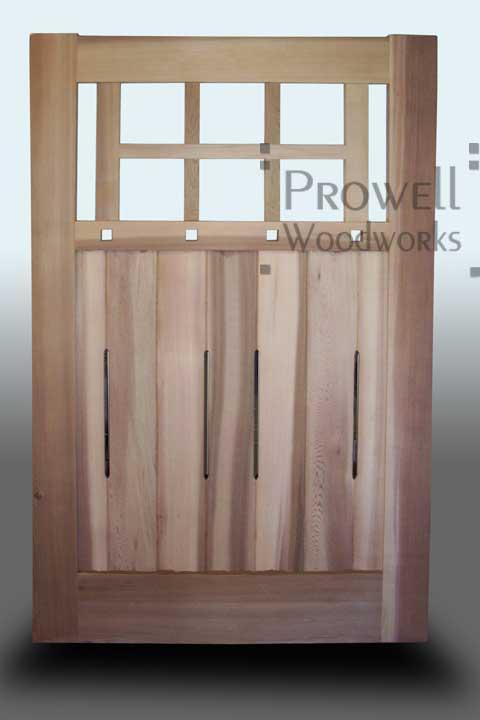wood garden gate #53-1