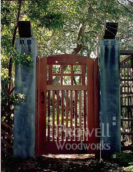 wood arch gate #53-2 in Mill Valley, CA