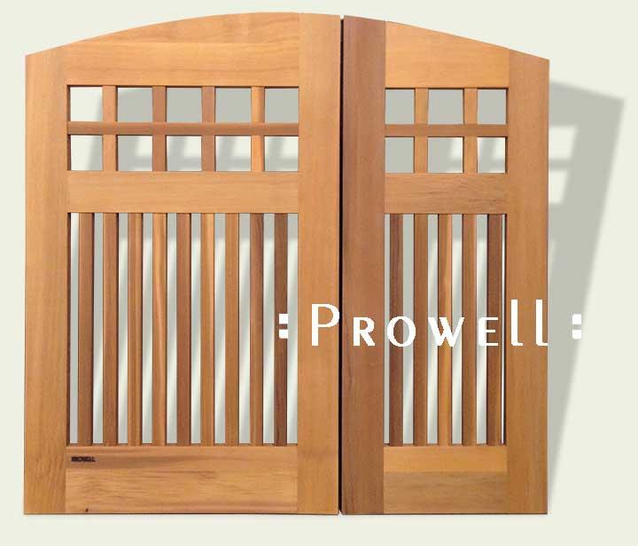 custom double wood garden gates #53