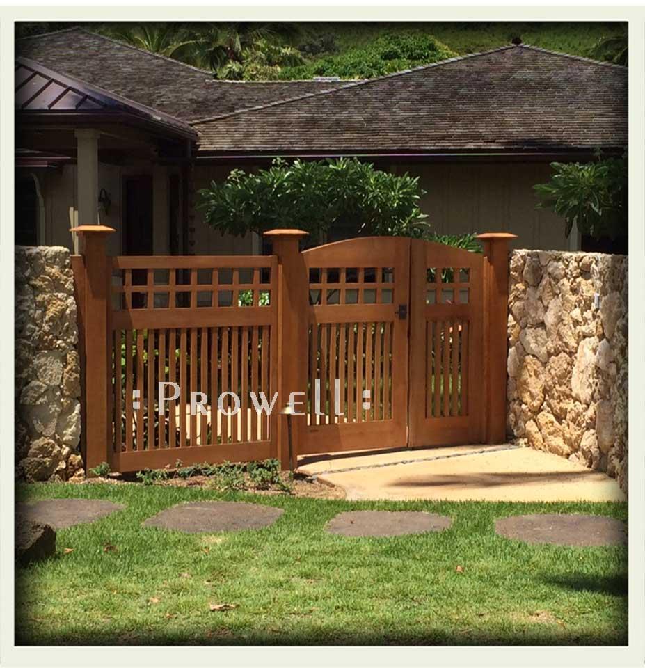 custom wood garden fence panels in Hawaii