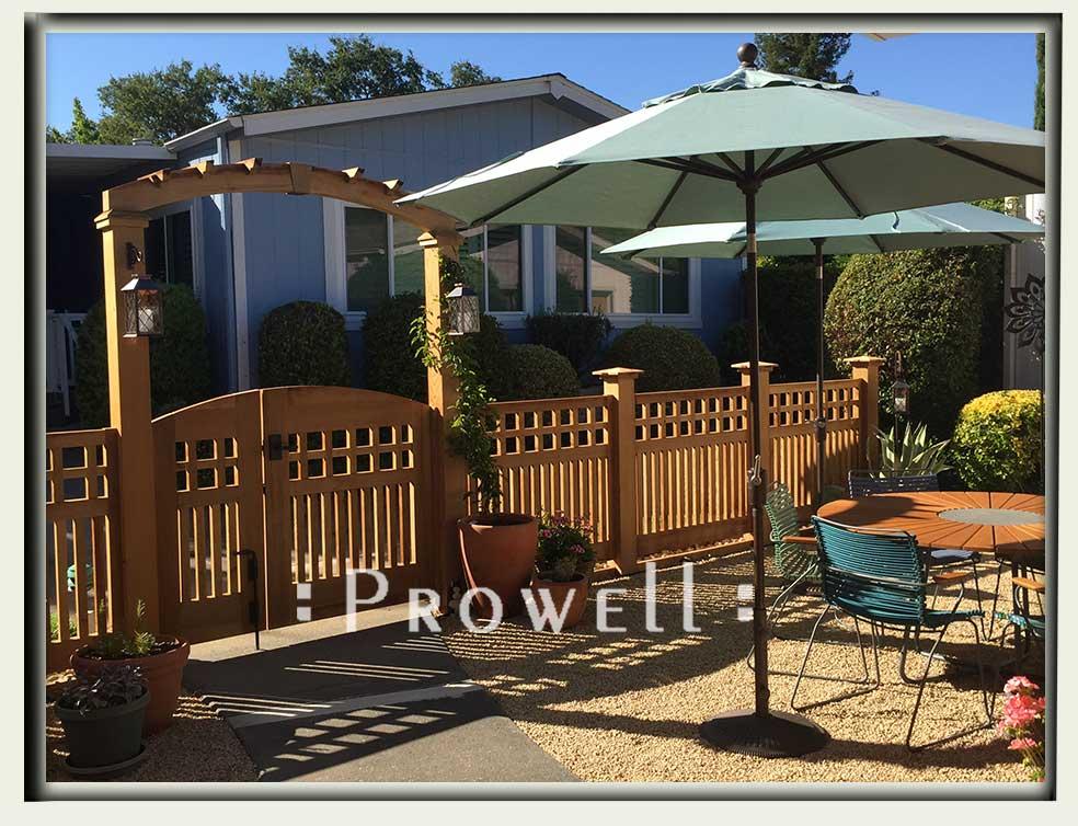 custom garden double gate #53-7a in Napa County, CA. prowell
