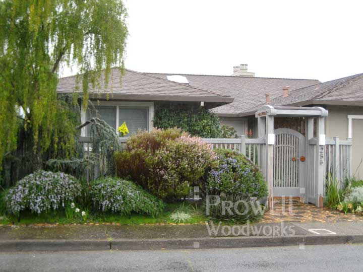 site photo showing picket fence gate #54 in Larkspur, California