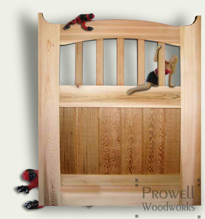 custom wood Gate Design
