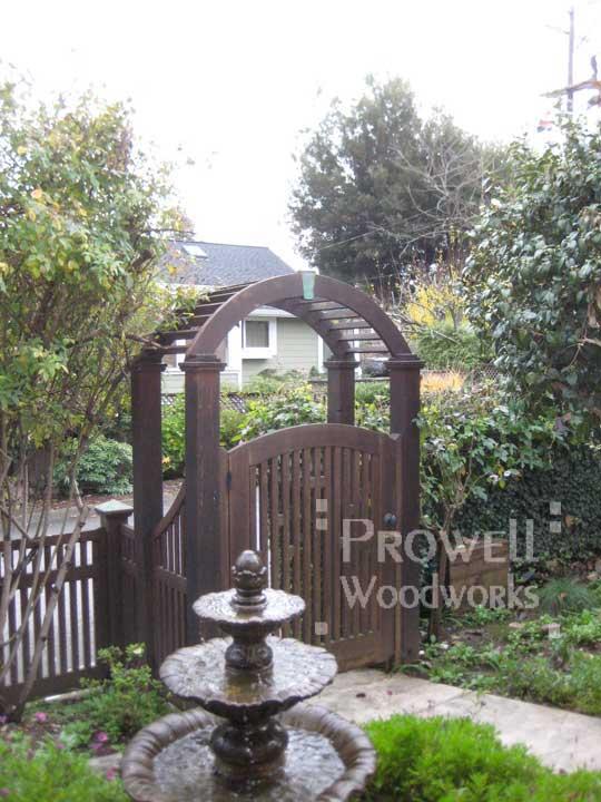 Site photo showing garden gate #57 in san anselmo, california