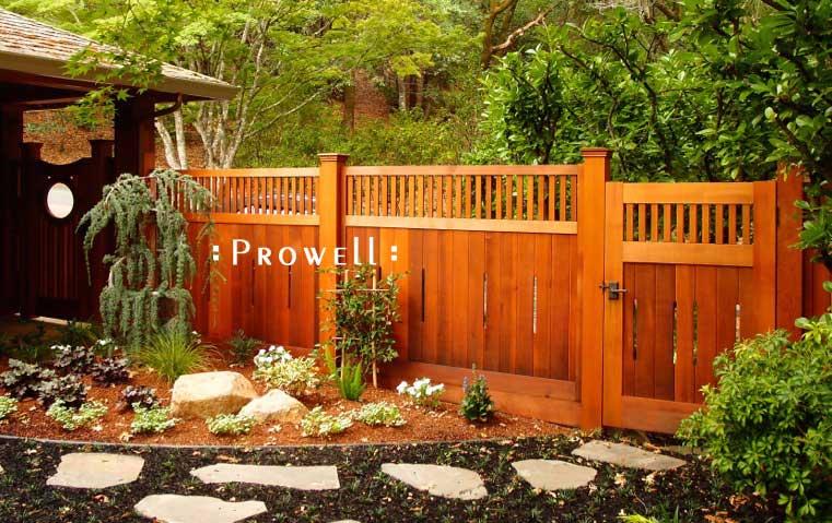 custom wood garden gate 5