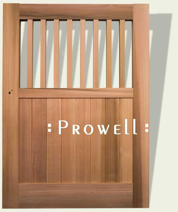 custom wood gate #5-15 in Marin County. Prowell