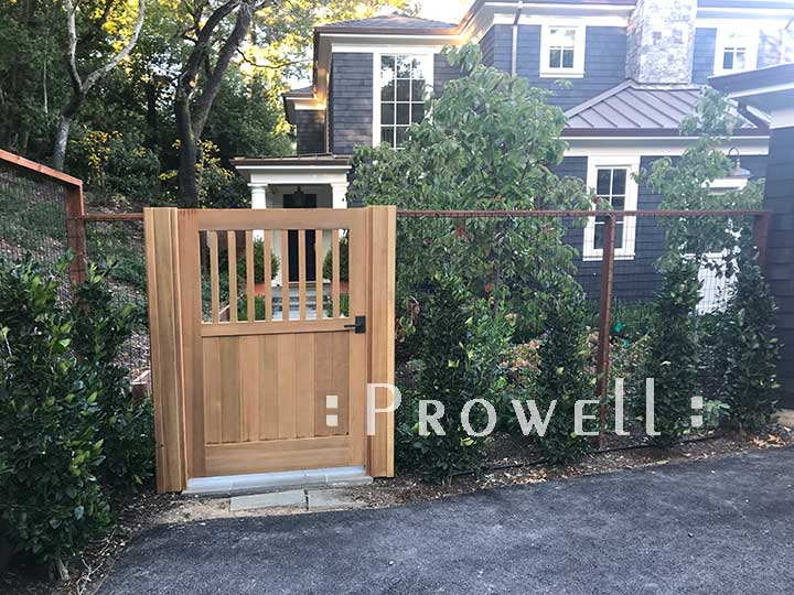 wood garden gates #5 in marin county, calfornia